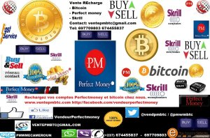 Bitcoin Perfect money Skrill Afrique monde entier Cameroun